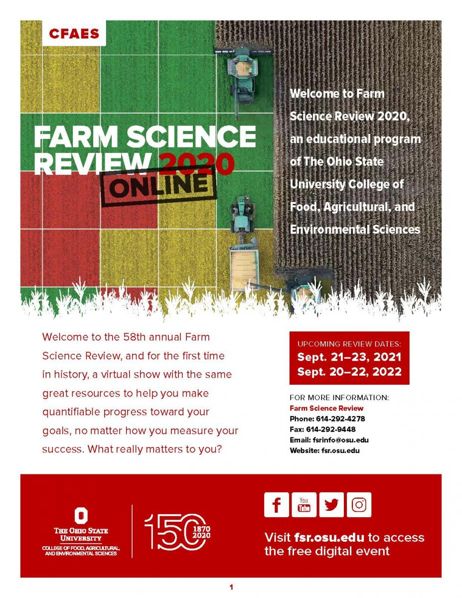 2020 Farm Science Review Program