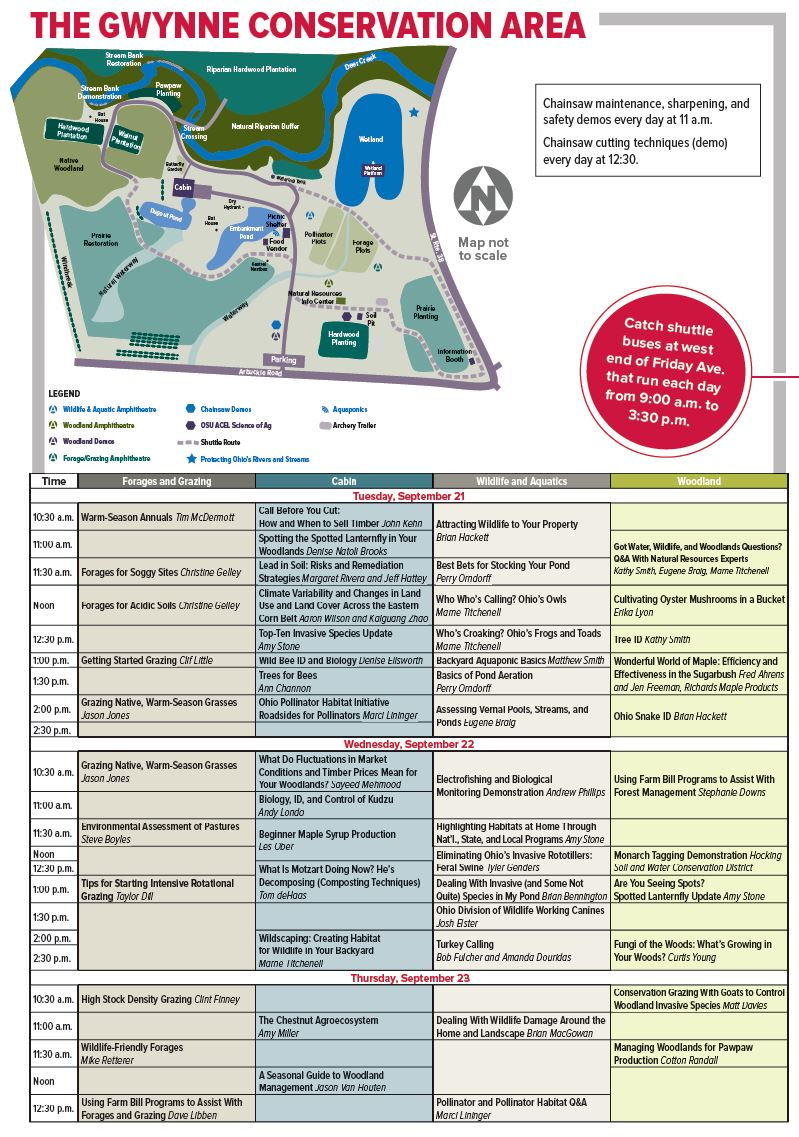 Gwynne Conservation Area Schedule and Map